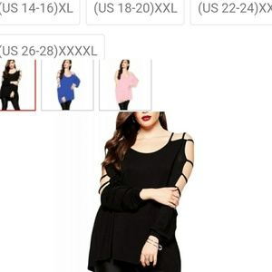Tops - Black Shirt with cut out sleeve detail
